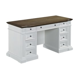Home Styles Americana Transitional Distressed Oak Executive Desk