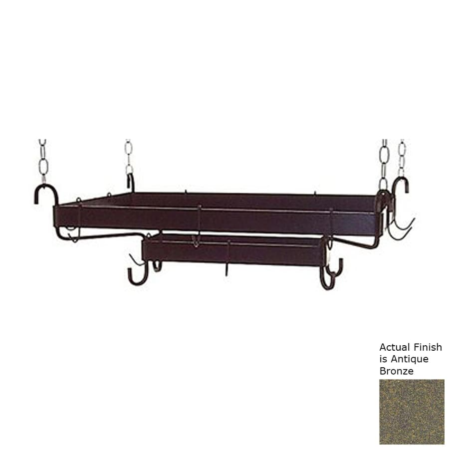 Grace Collection 38.5-in x 20-in Bronze Rectangular Pot Rack