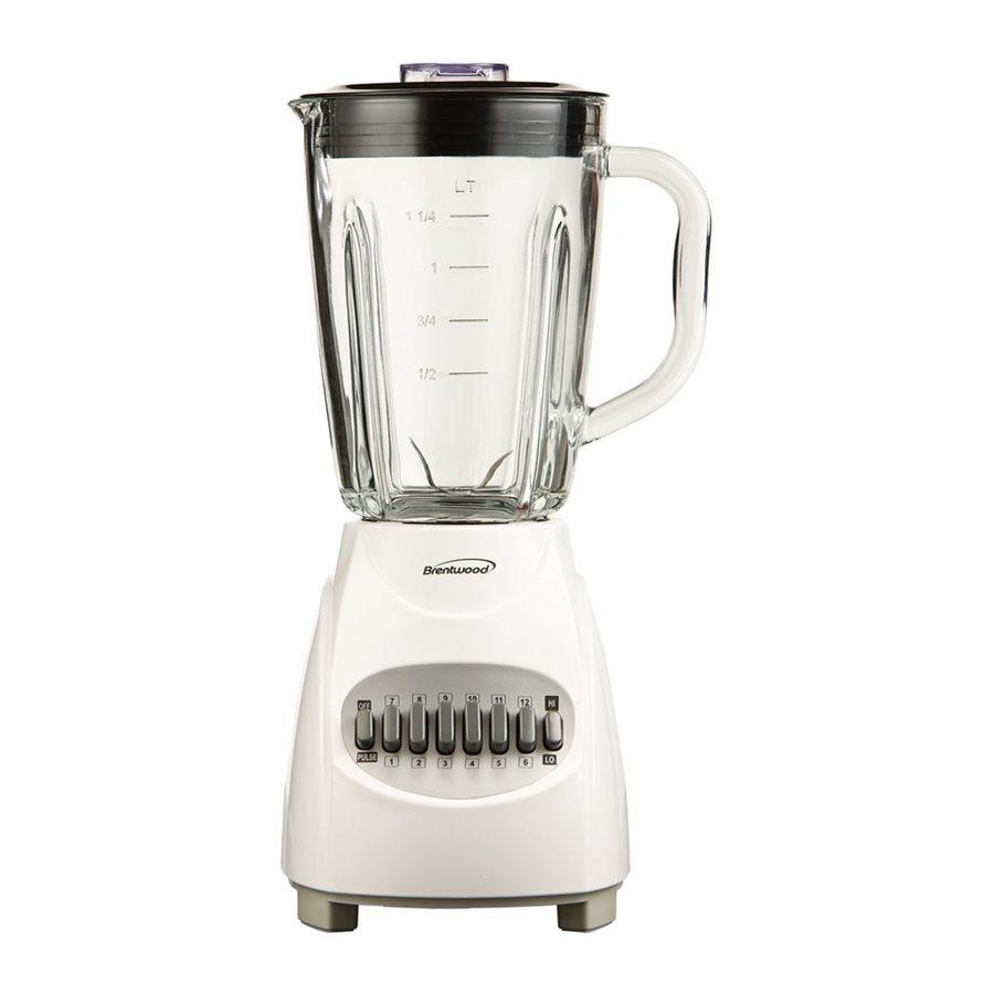 Brentwood Appliances 42-oz White 12-Speed 350-Watt Pulse Control Blender