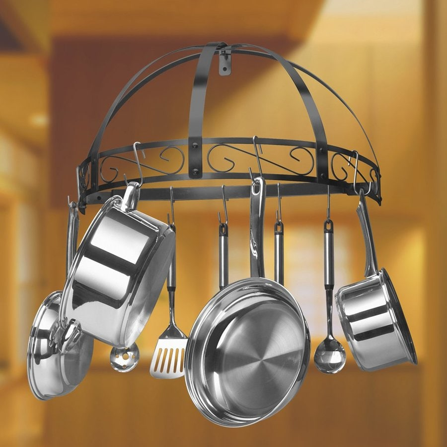 shop kinetic 24 in x 12 in half dome pot rack at lowes com