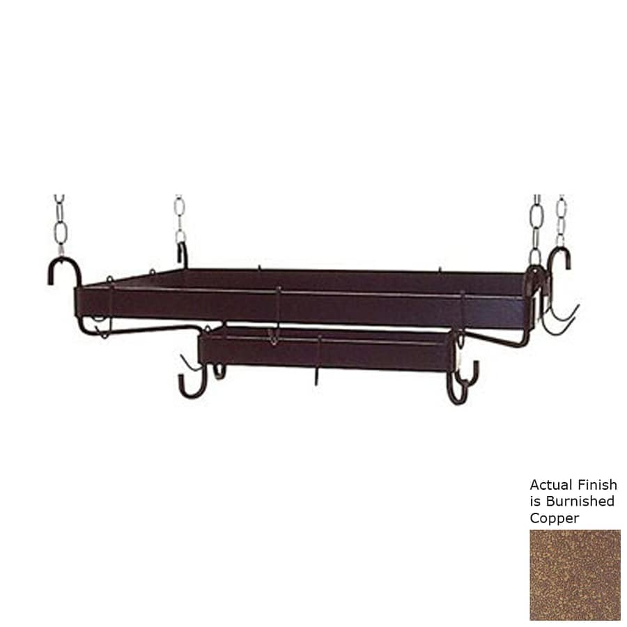 Grace Collection 49.5-in x 20-in Rectangular Pot Rack