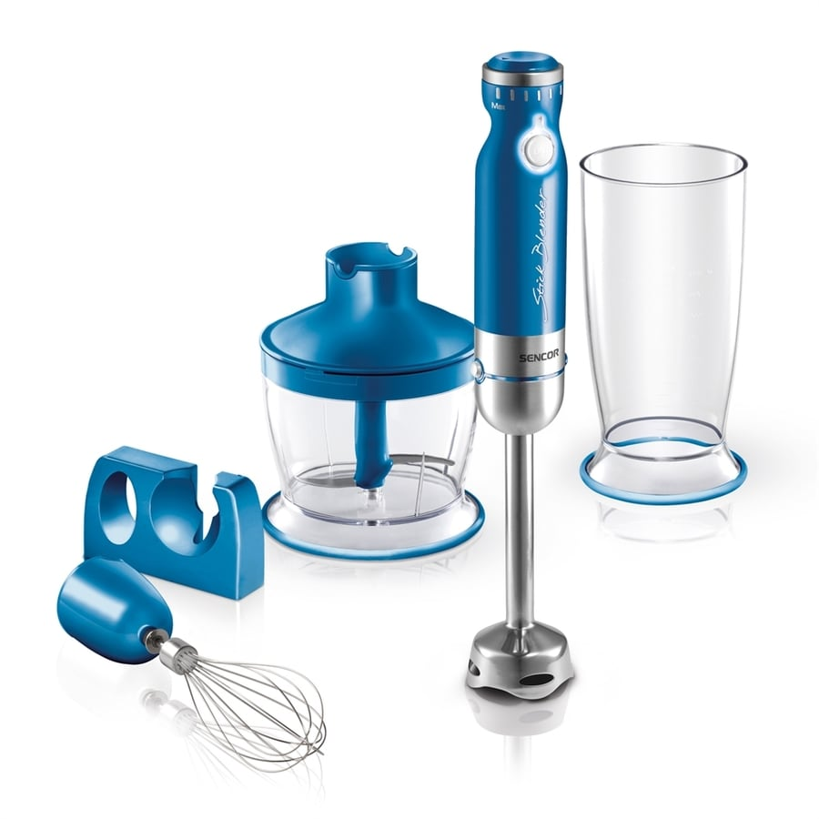 SENCOR 1-Speed Blue 350-Watt Immersion Blender with Accessory Jar