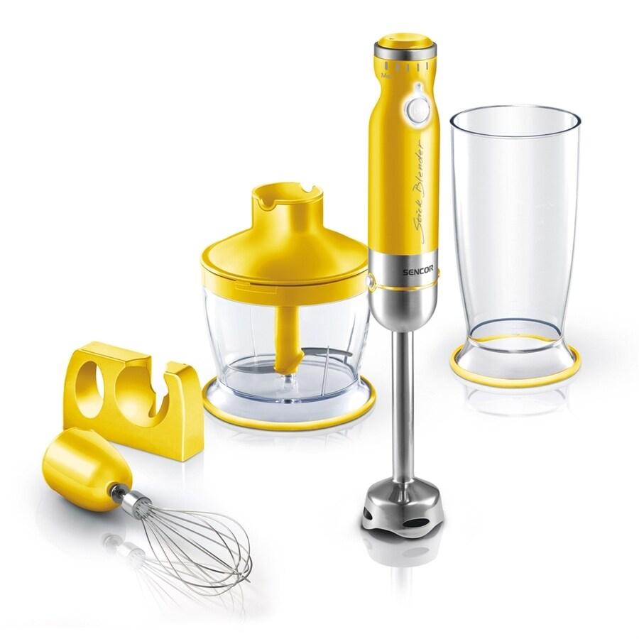 SENCOR 1-Speed Yellow 350-Watt Immersion Blender with Accessory Jar