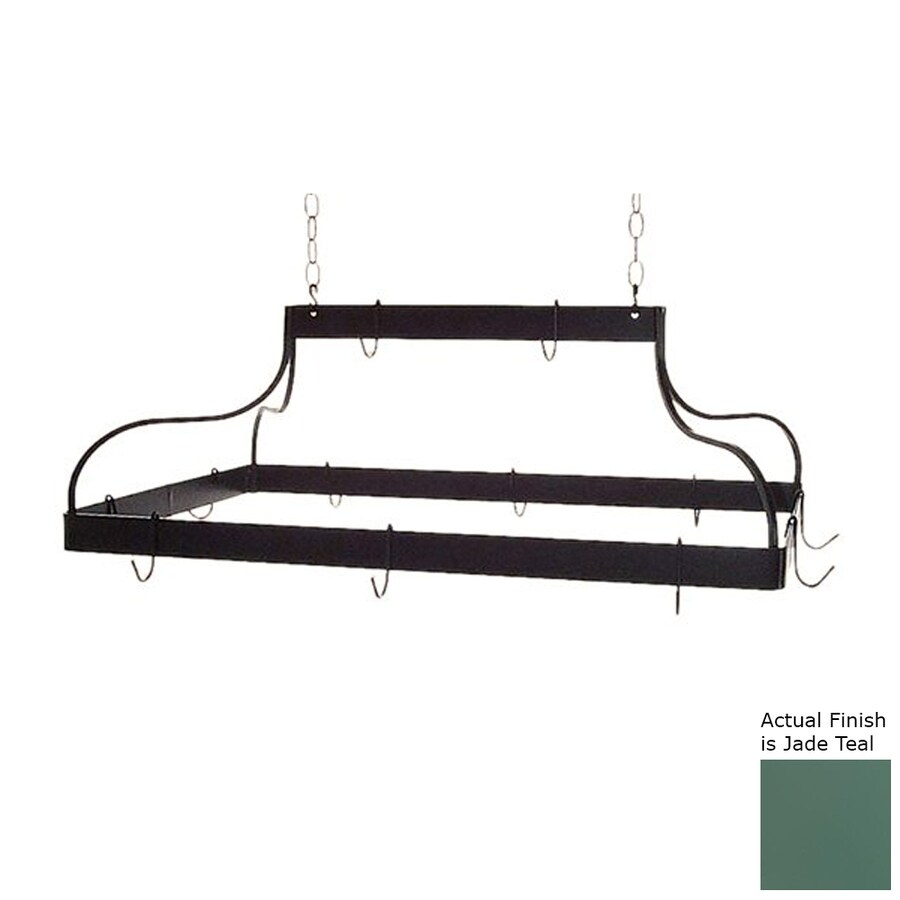 Grace Collection 36-in x 18-in Green Rectangular Pot Rack