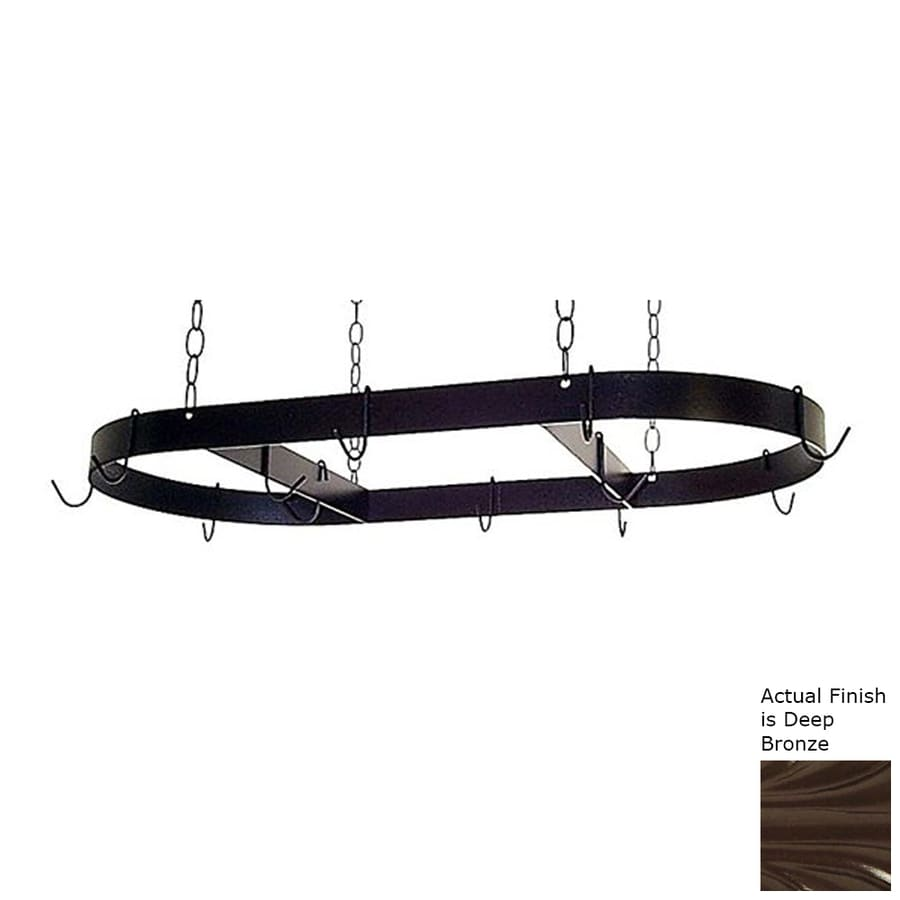 Grace Collection 36-in x 18-in Oval Pot Rack