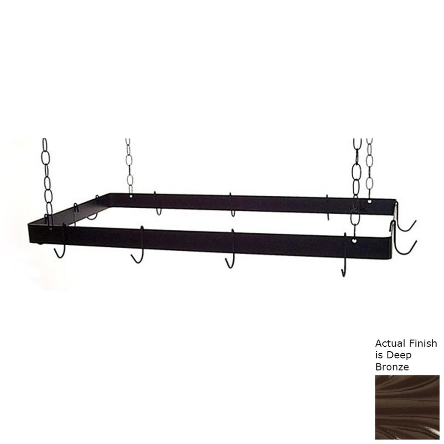 Grace Collection 36-in x 18-in Rectangular Pot Rack