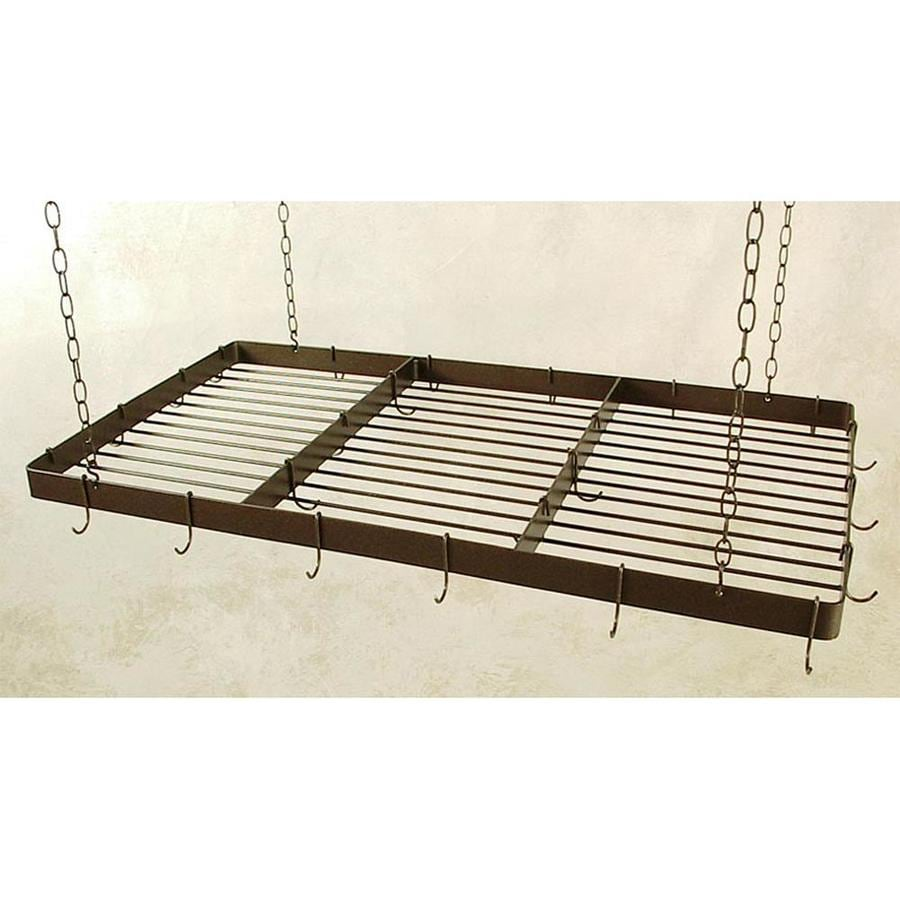 Grace Collection 48-in x 24-in Brown Rectangular Pot Rack