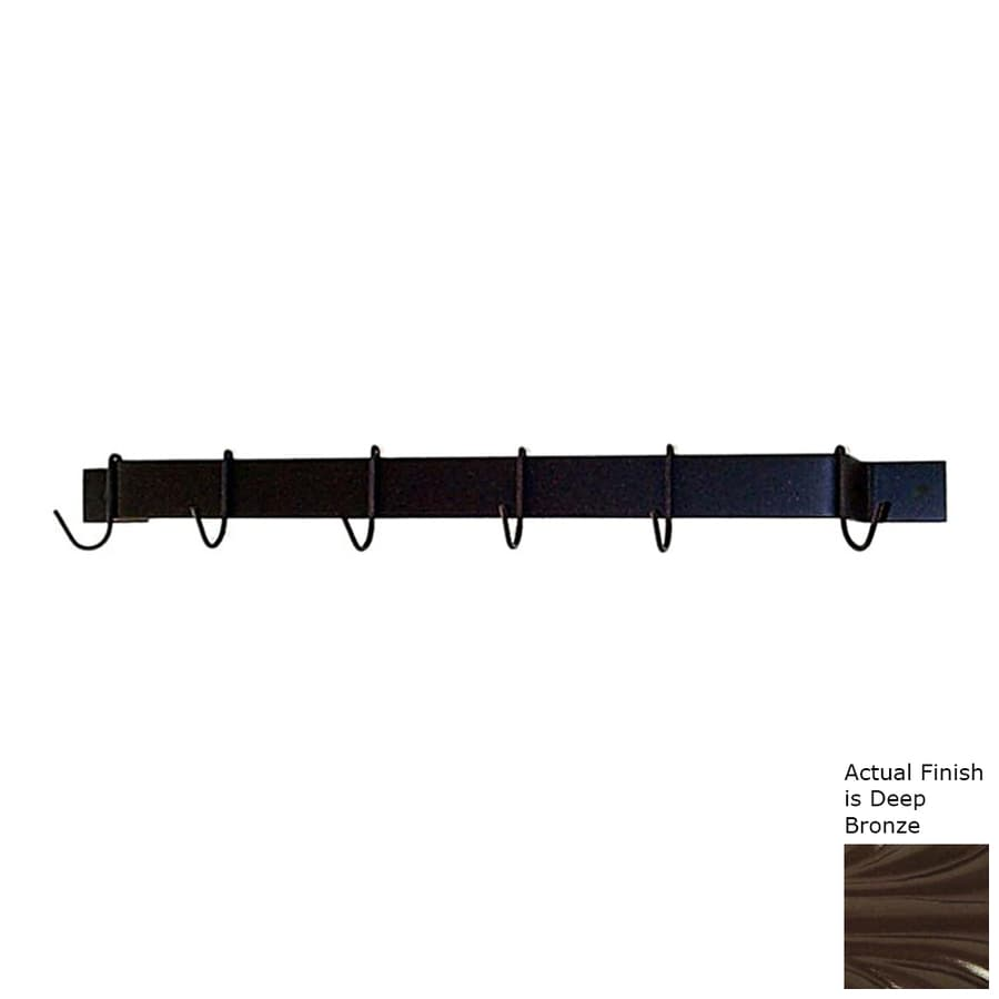 Grace Collection 36-in x 3-in Bar Pot Rack
