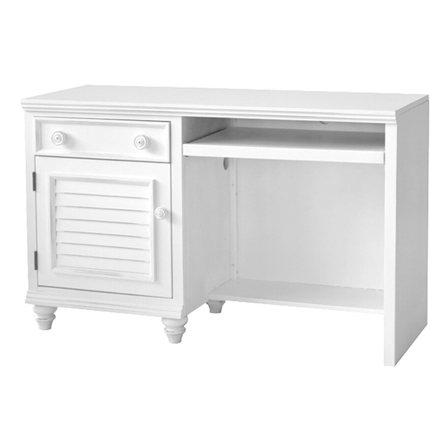 John Boyd Furniture Outer Banks Transitional Bright White Computer Desk