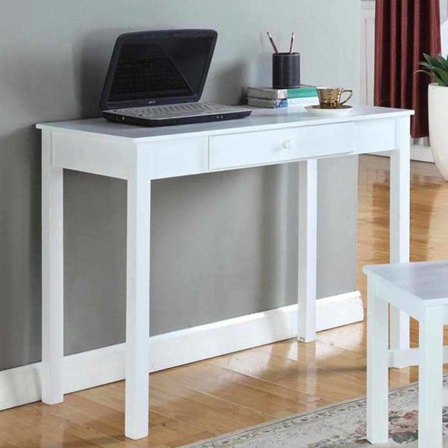 KB Furniture Transitional White Writing Desk