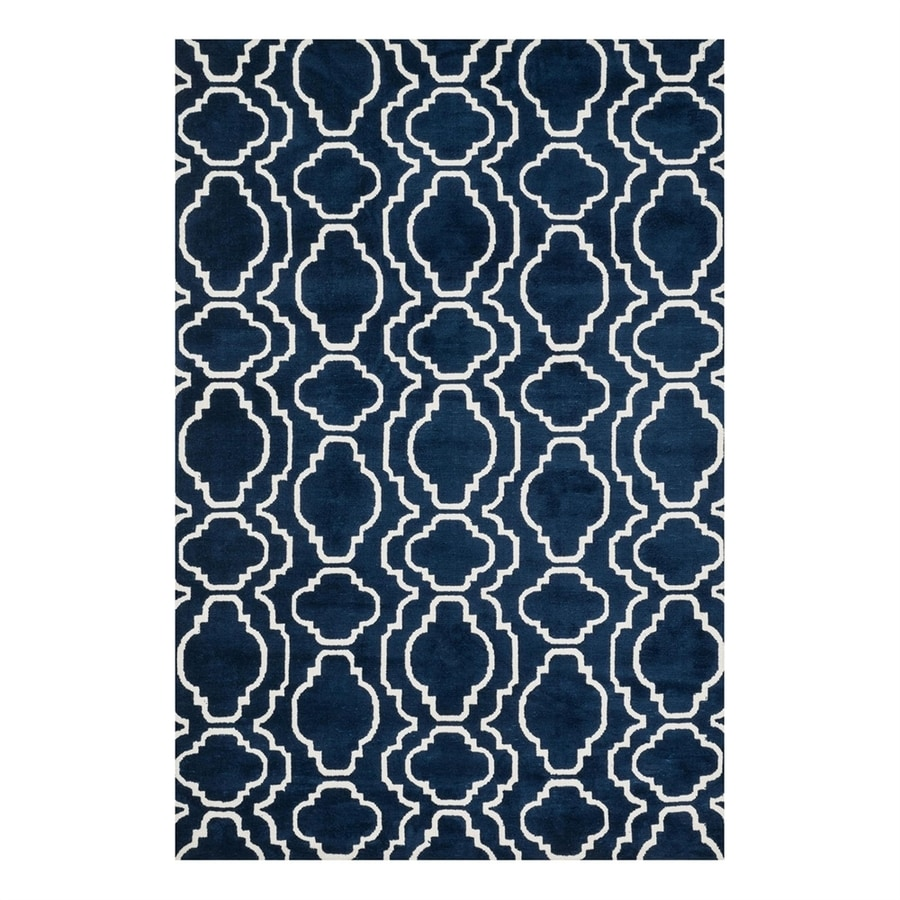 Loloi Cassidy Navy Rectangular Indoor Machine-Made Area Rug (Common: 3 x 5; Actual: 3.5-ft W x 5.5-ft L)