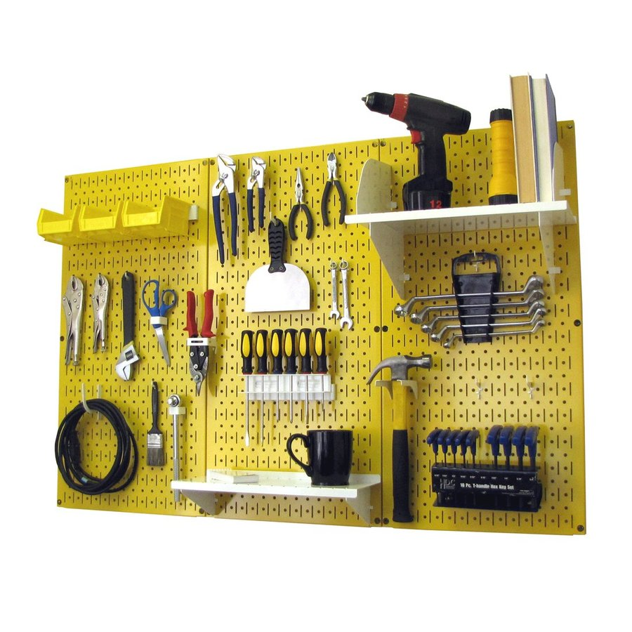 Wall Control 48-in W x 32-in H Yellow/White Steel Garage Storage System