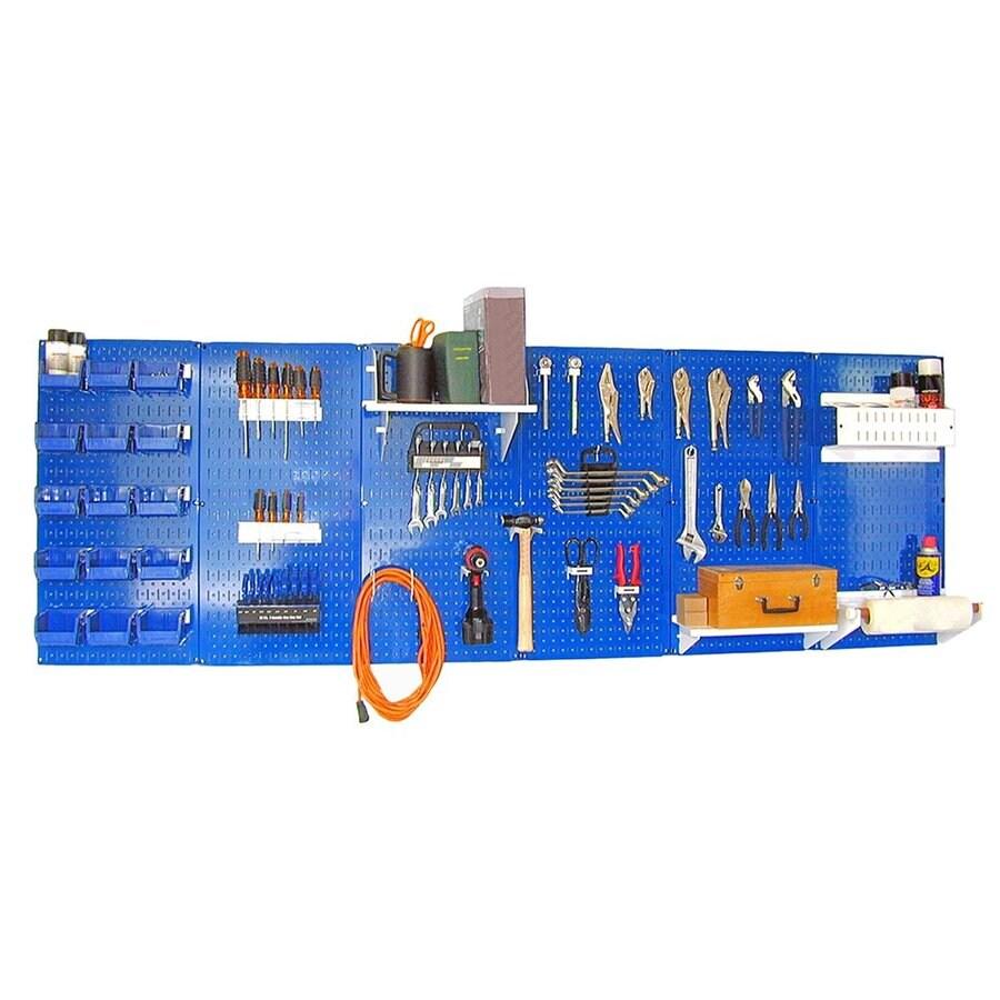 Wall Control 96-in W x 32-in H Blue/White Steel Garage Storage System