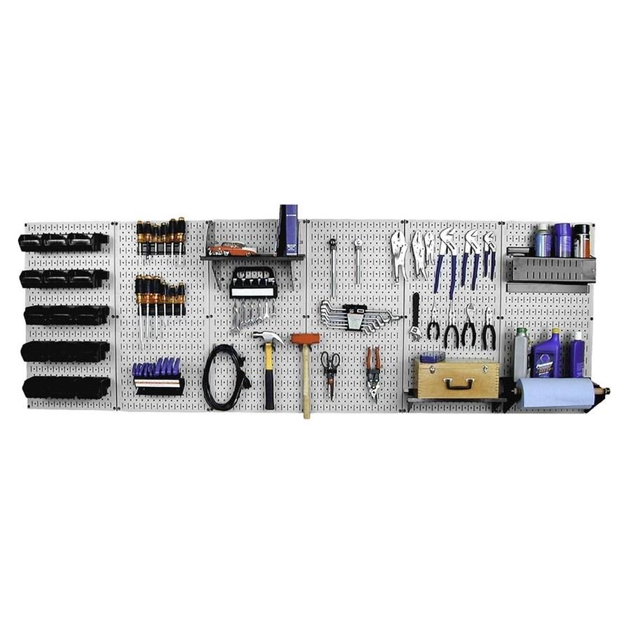 Wall Control 96-in W x 32-in H Gray/Black Steel Garage Storage System