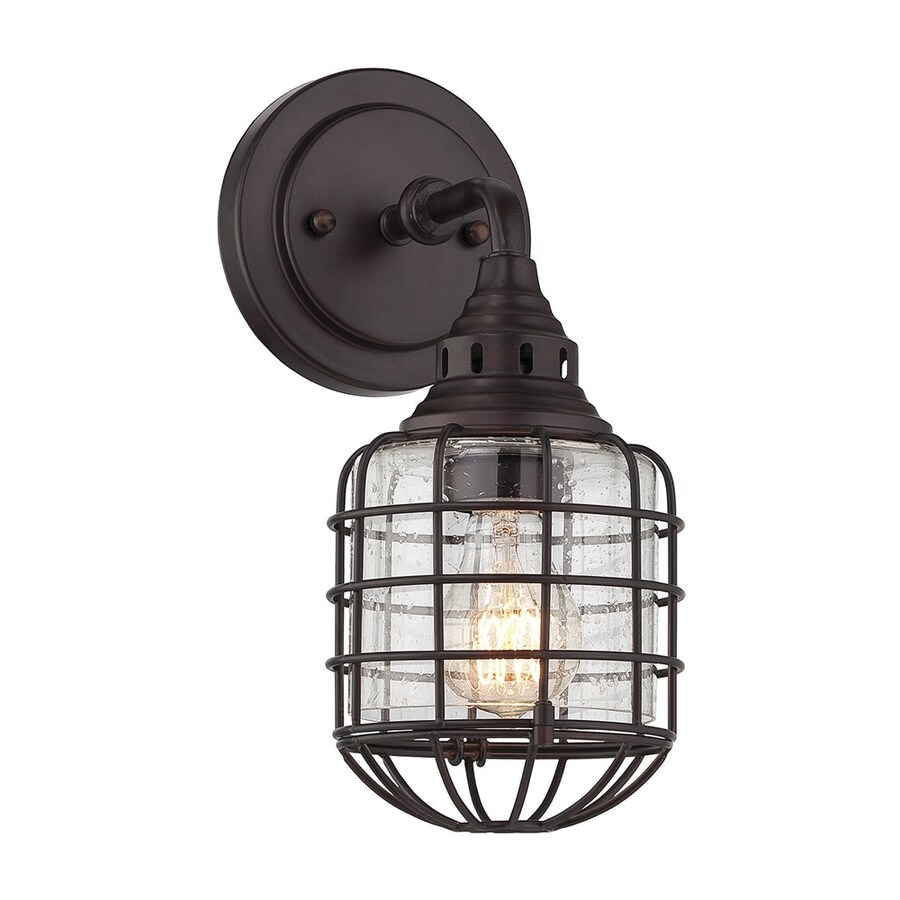 Cascadia Lighting Connell 5.75-in W 1-Light English bronze Arm Wall Sconce