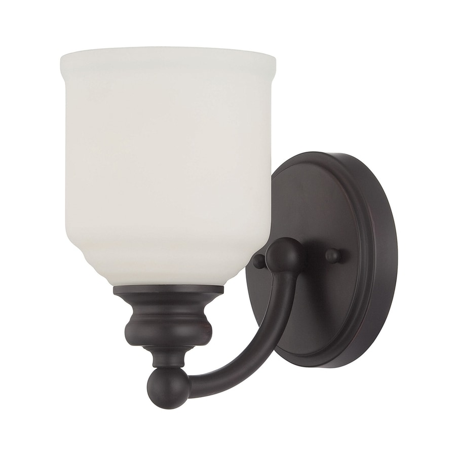 Cascadia Lighting Melrose 5-in W 1-Light English bronze Arm Wall Sconce