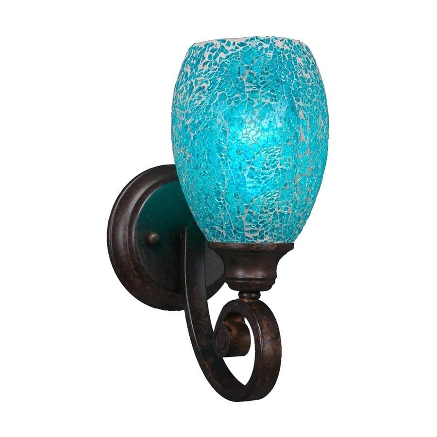 Cascadia Lighting Curl 5-in W 1-Light Bronze Art Glass Arm Wall Sconce