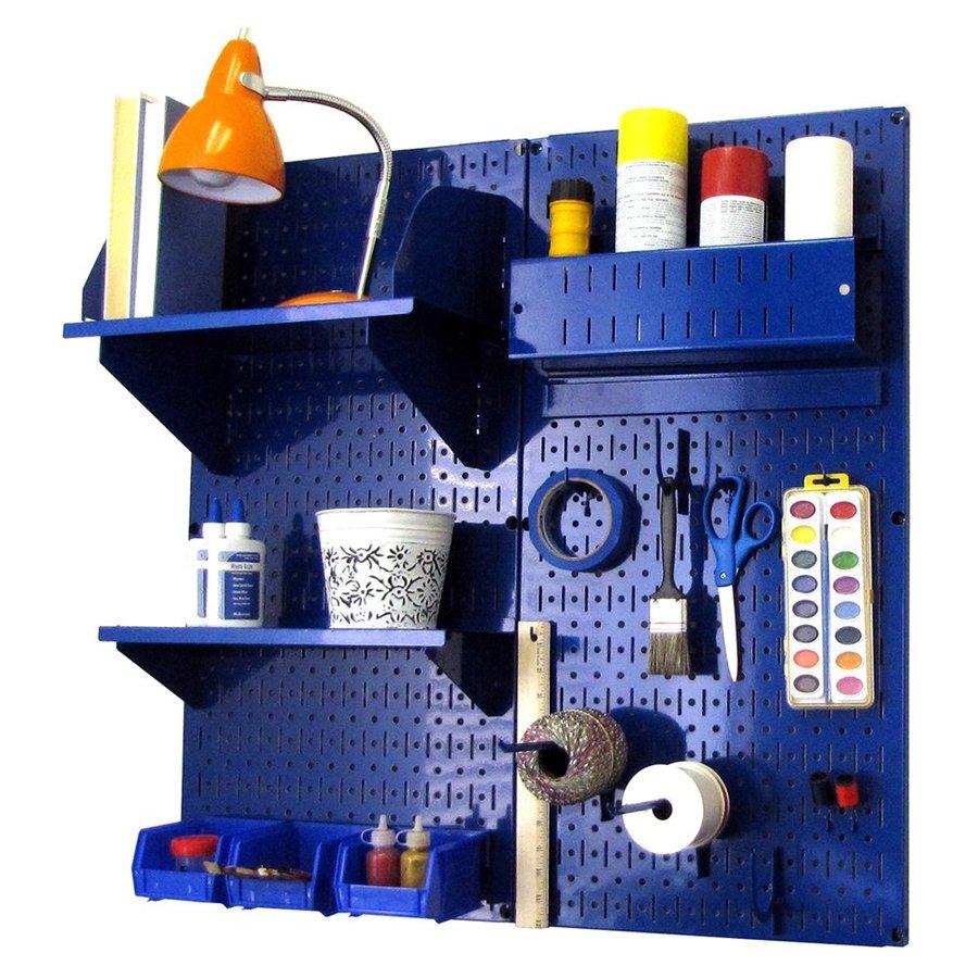 Wall Control 32-in W x 32-in H Blue Steel Garage Storage System