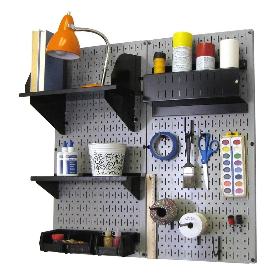 Wall Control 32-in W x 32-in H Gray/Black Steel Garage Storage System