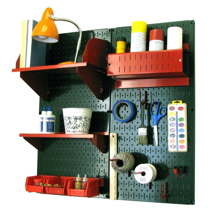 Wall Control 32-in W x 32-in H Green/Red Steel Garage Storage System