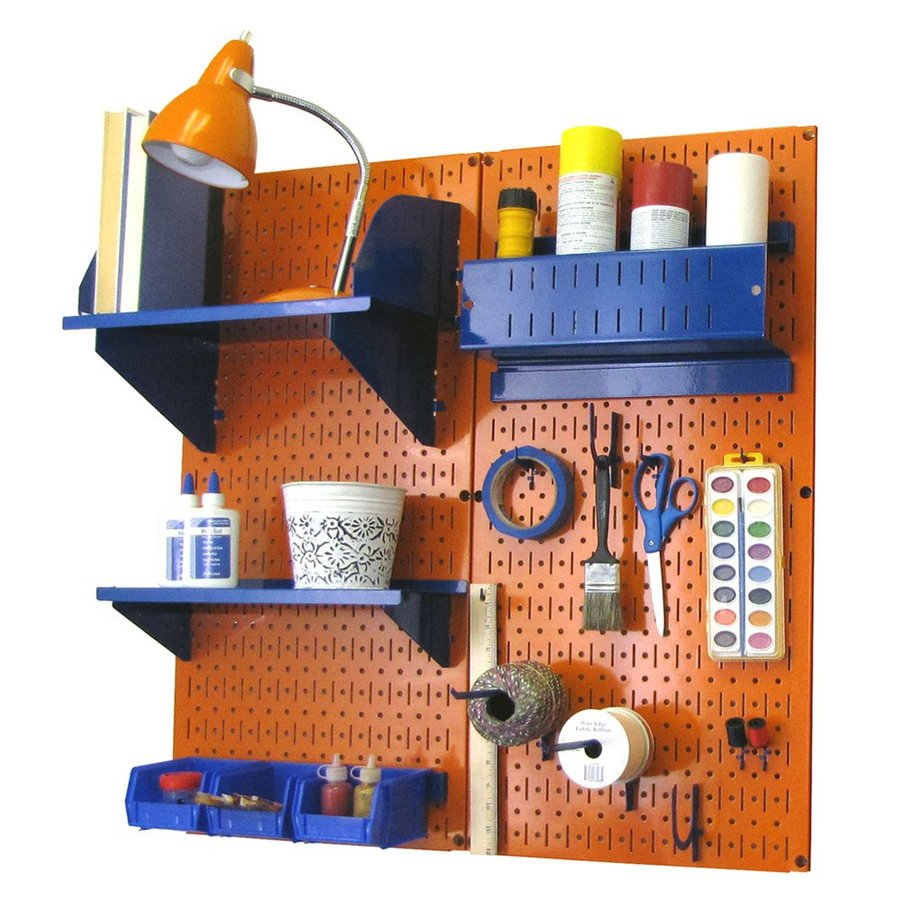 Wall Control 32-in W x 32-in H Orange/Blue Steel Garage Storage System