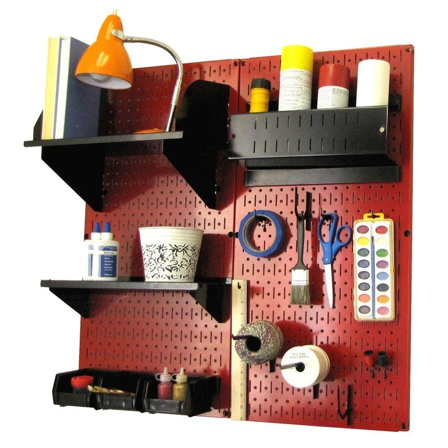 Wall Control 32-in W x 32-in H Red/Black Steel Garage Storage System