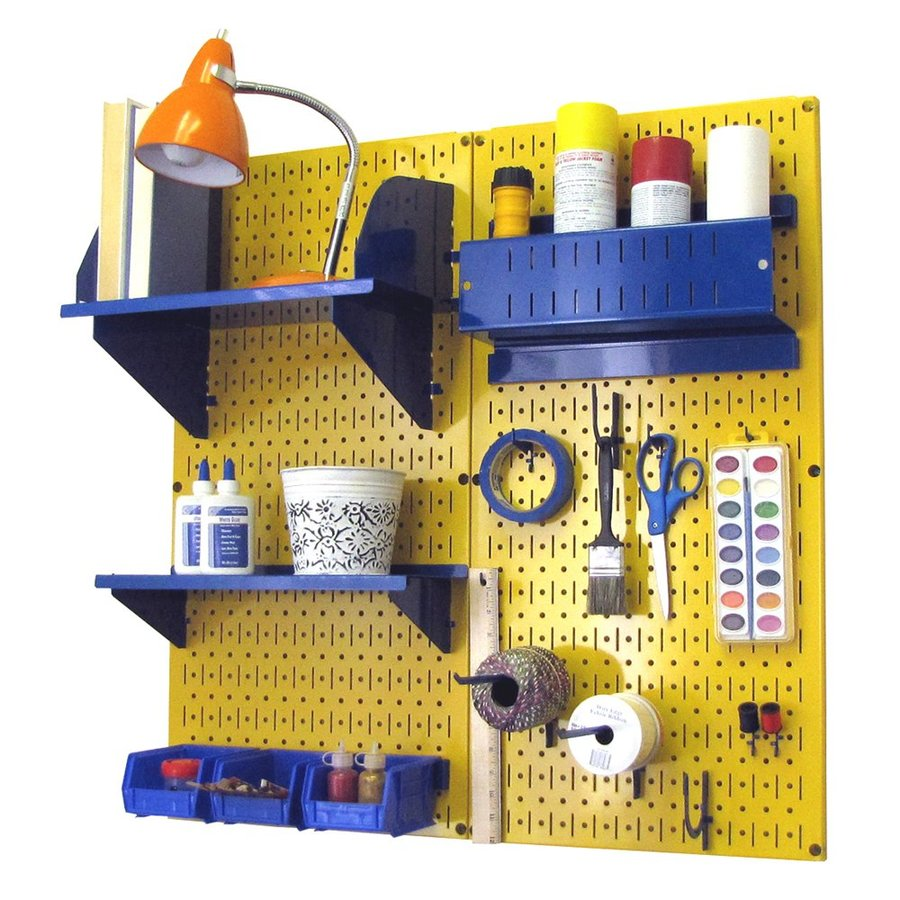 Wall Control 32-in W x 32-in H Yellow/Blue Steel Garage Storage System