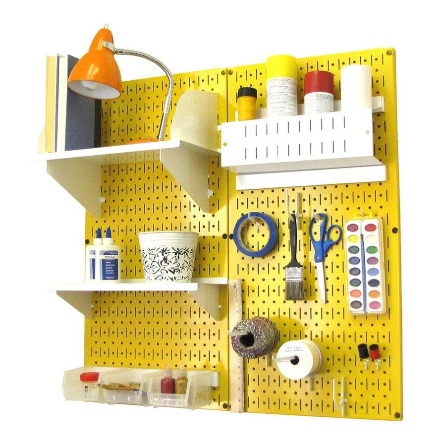 Wall Control 32-in W x 32-in H Yellow/White Steel Garage Storage System