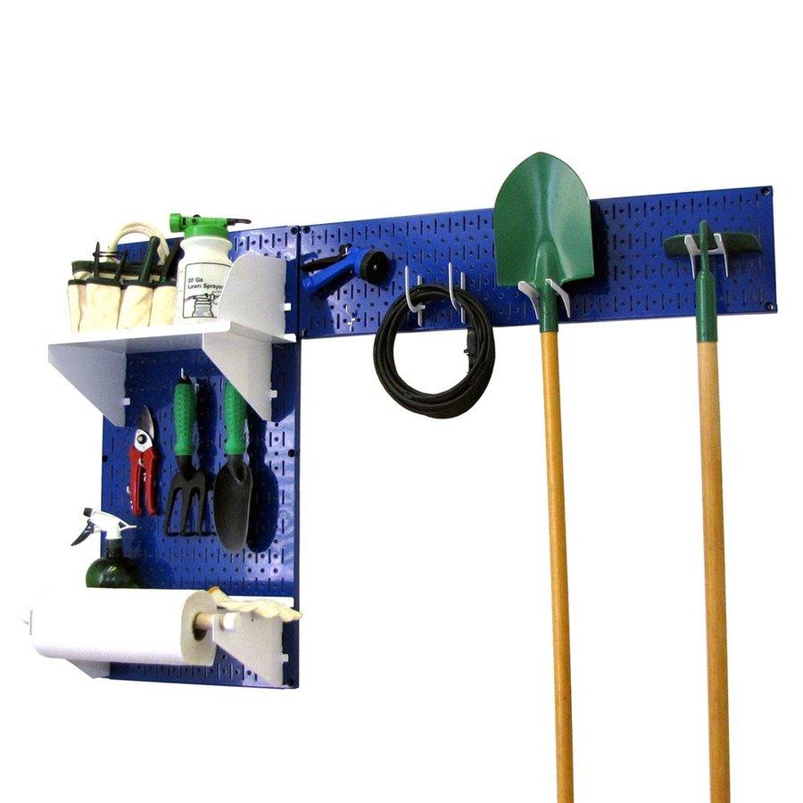 Wall Control 48-in W x 32-in H Blue/White Steel Garage Storage System