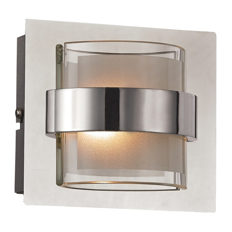 Trans Globe Cassina 5.25-in W 1-Light Polished chrome Pocket LED Wall Sconce