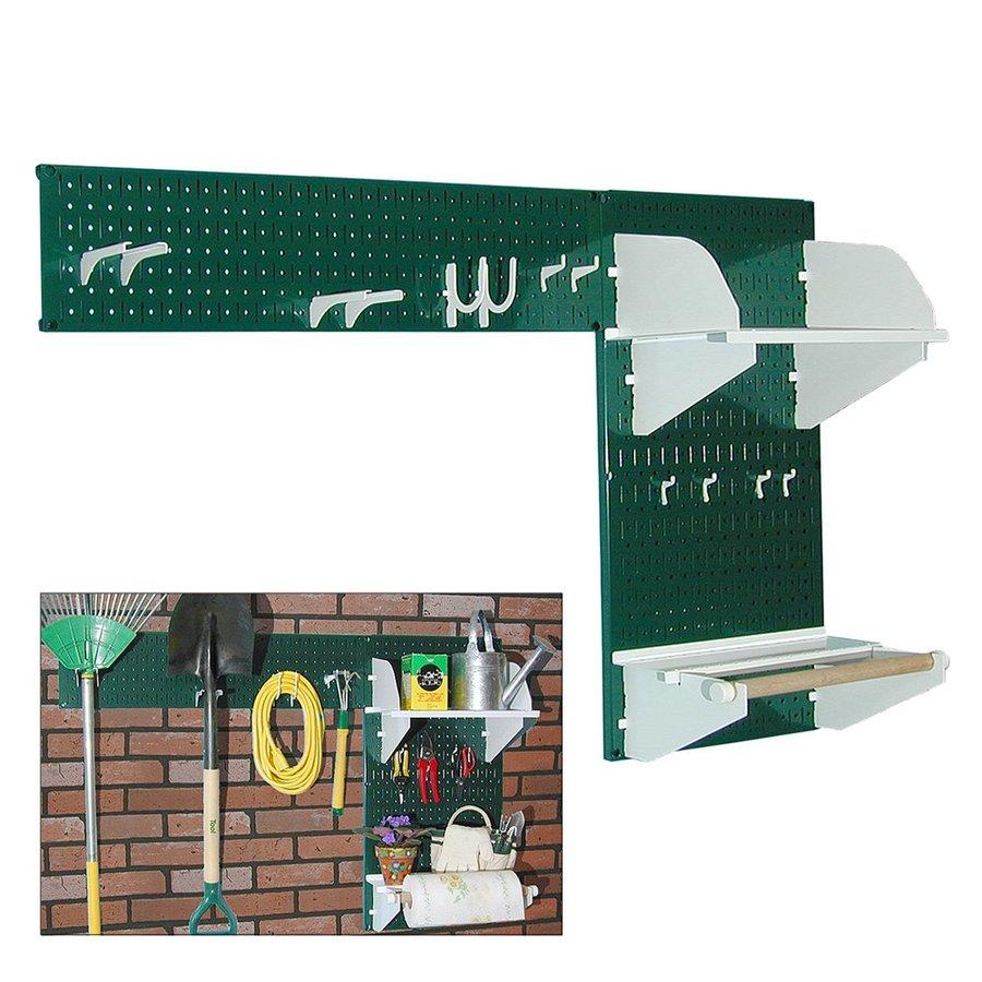 Wall Control 48-in W x 32-in H Green/White Steel Garage Storage System