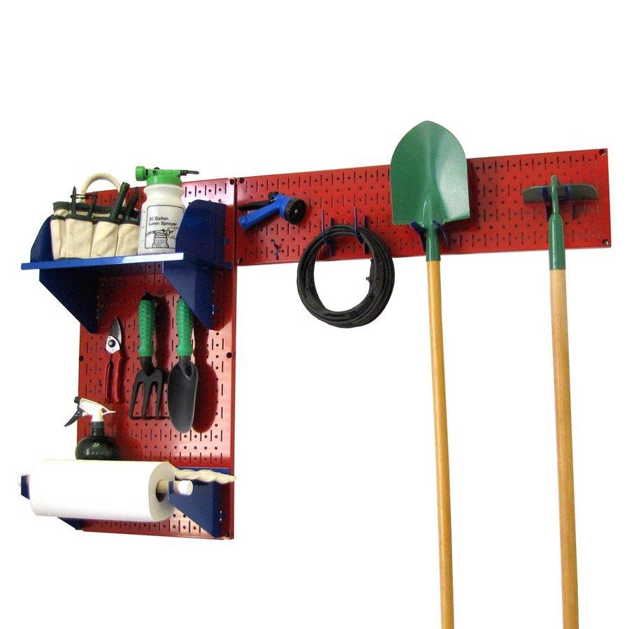 Wall Control 48-in W x 32-in H Red/Blue Steel Garage Storage System