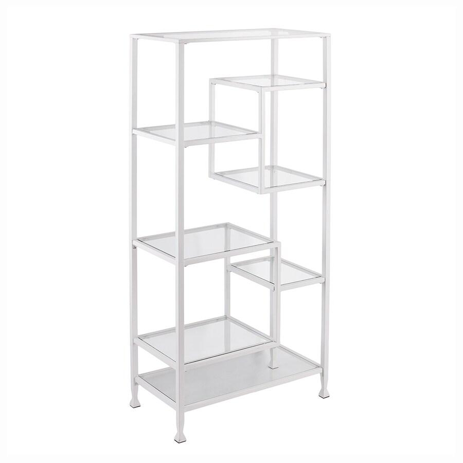 Boston Loft Furnishings Lea Matte Khaki Metal 7-Shelf Bookcase