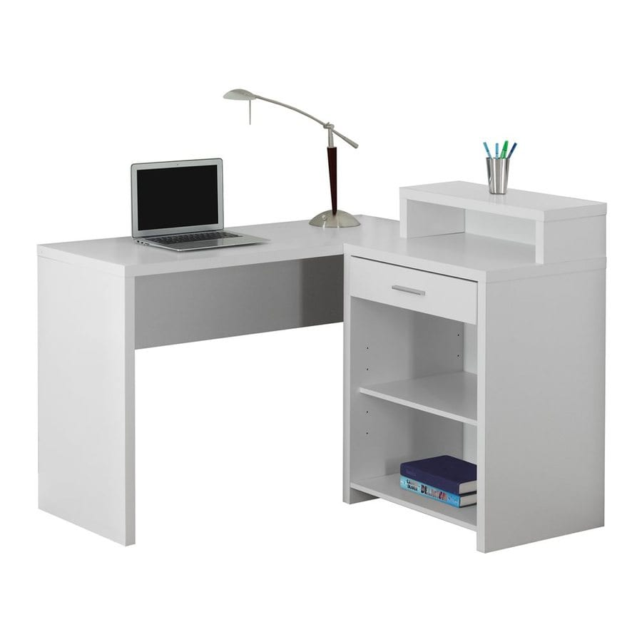 Monarch Specialties Transitional White Corner Desk At