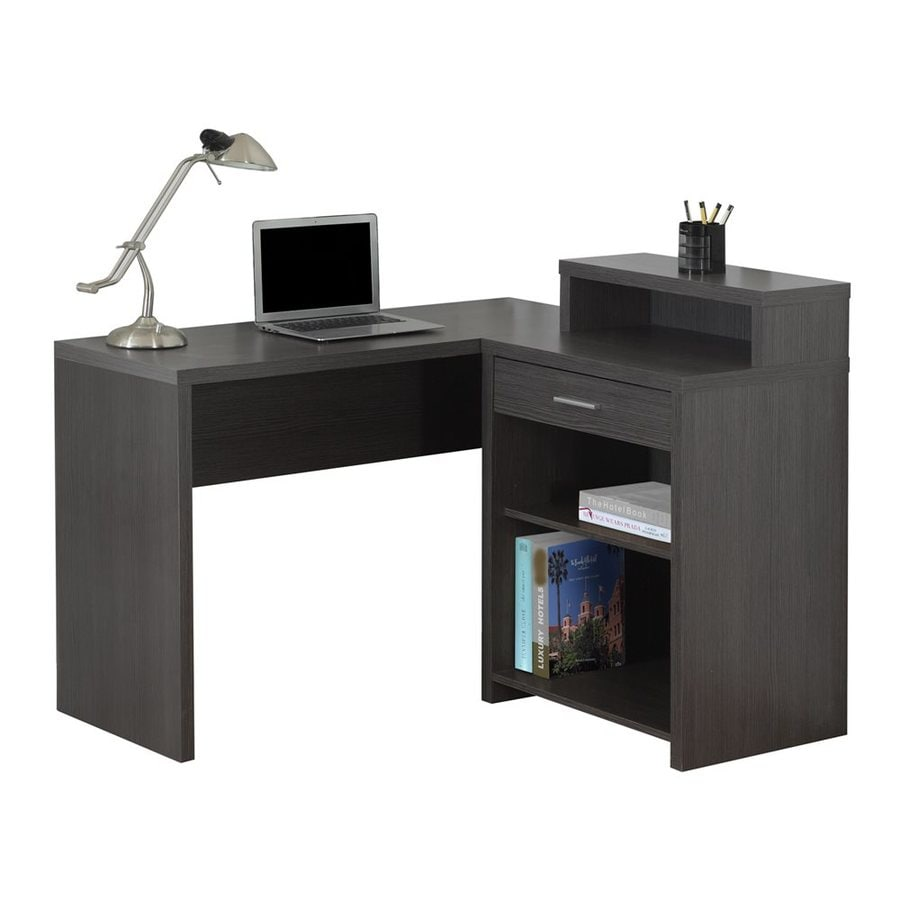 Monarch Specialties Transitional Dark Grey Corner Desk