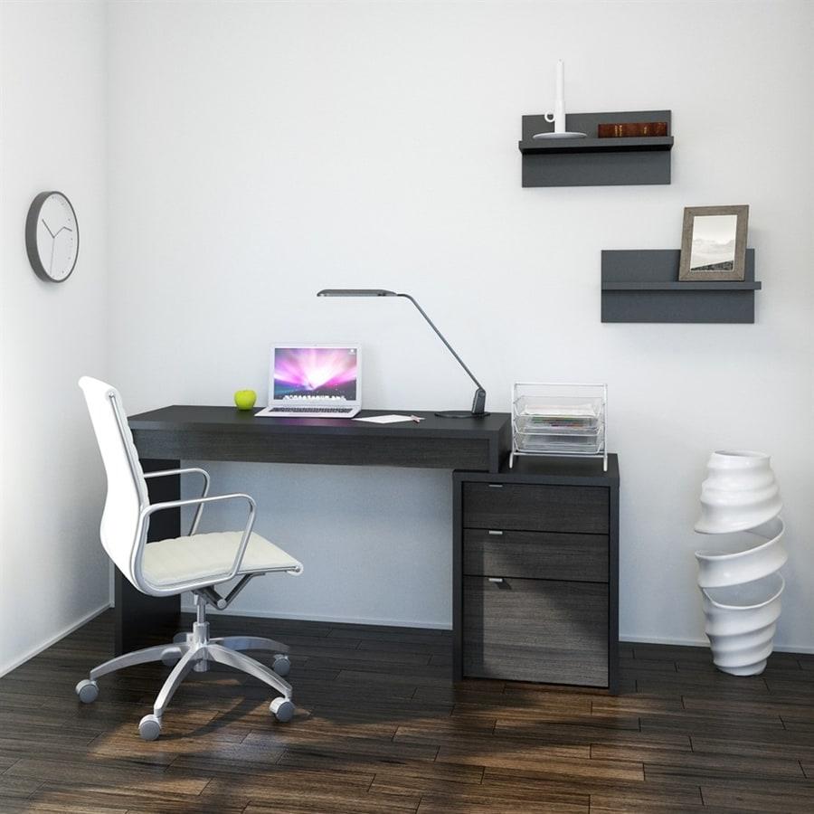 Nexera Sereni-T Contemporary Black Writing Desk