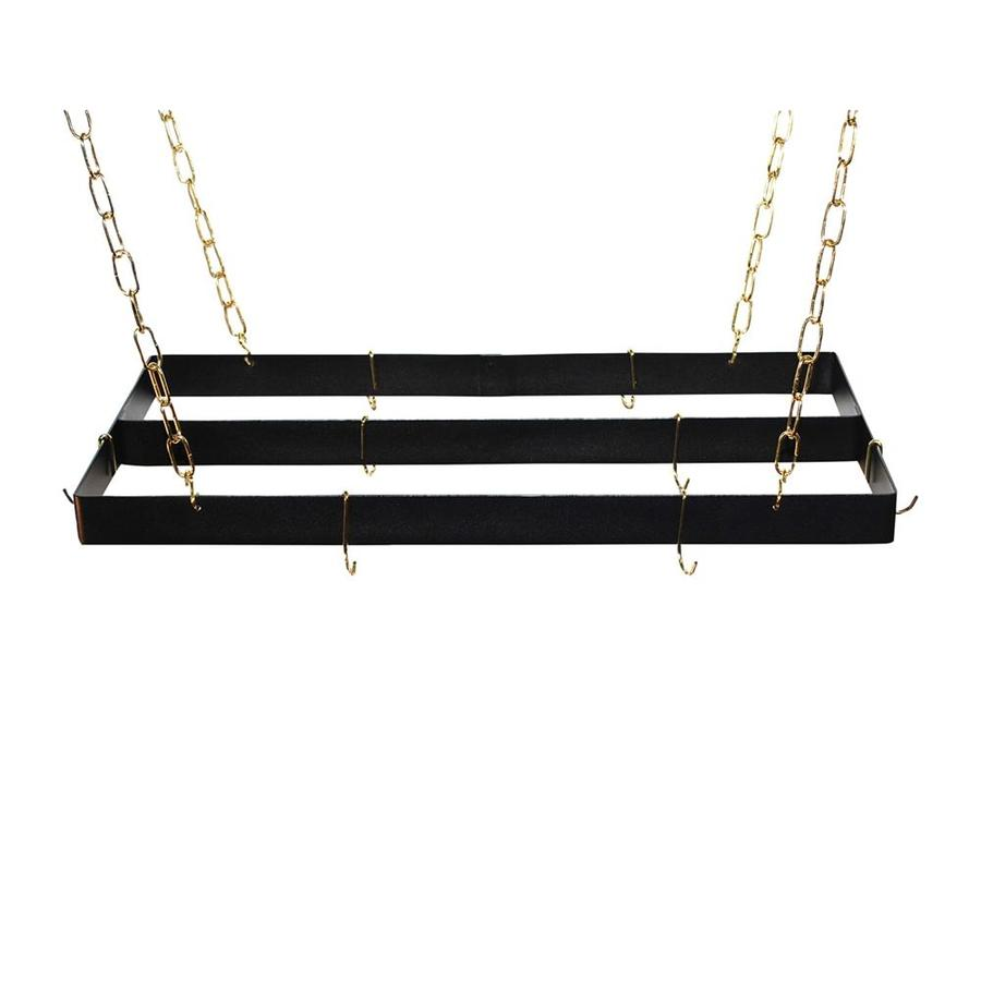 Rogar International 30-in x 15-in Black Rectangular Pot Rack