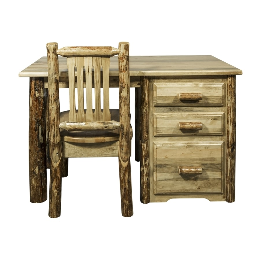 Montana Woodworks Glacier Country Traditional Natural Computer Desk