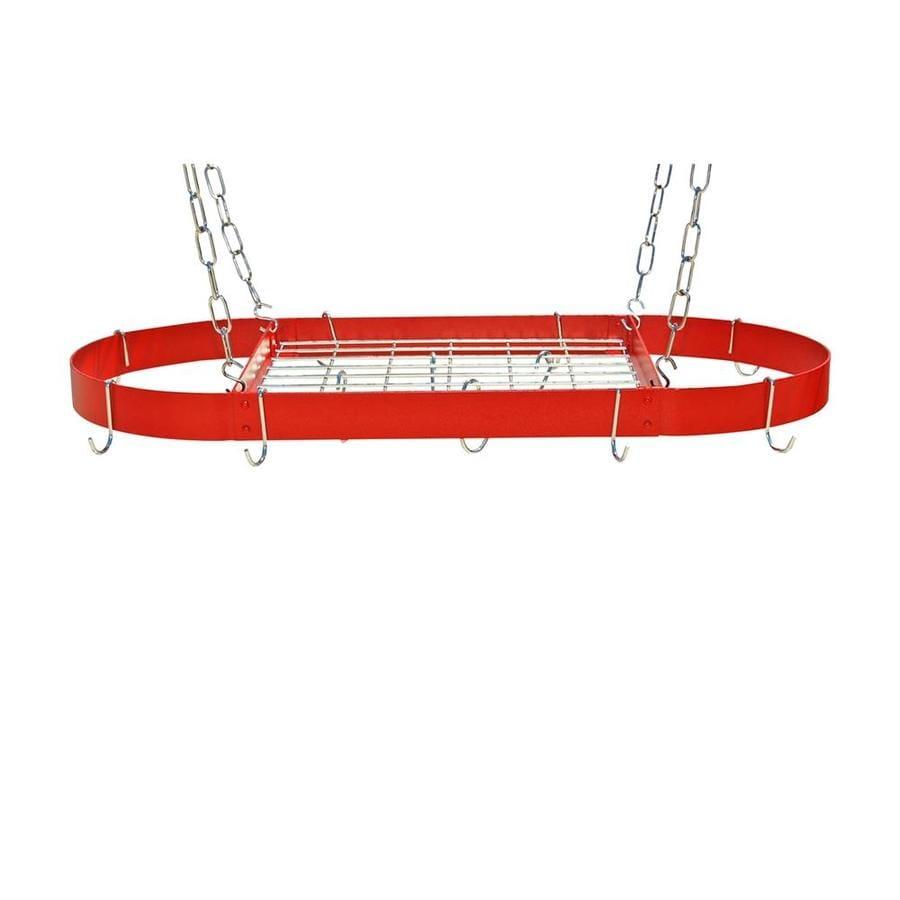 Rogar International 34-in x 16-in Red Oval Pot Rack