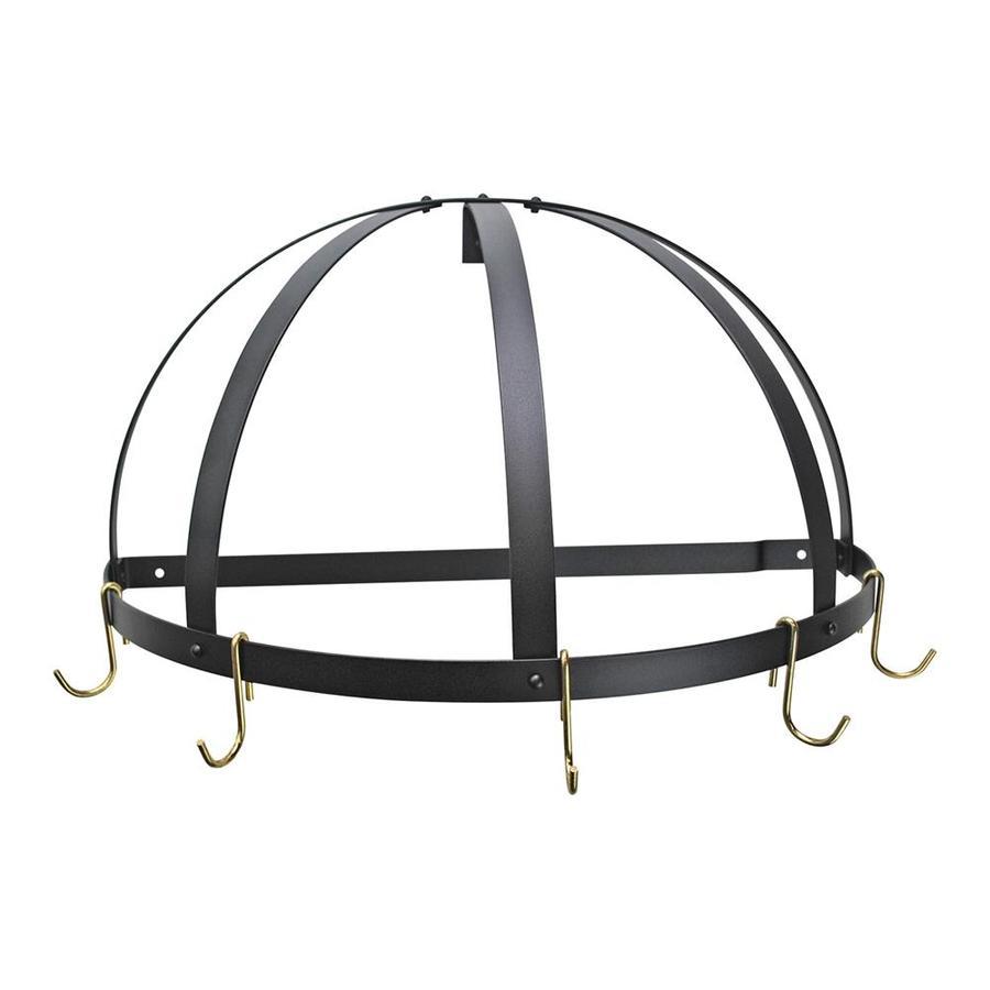 Rogar International 22.25-in x 11-in Black Half-Dome Pot Rack