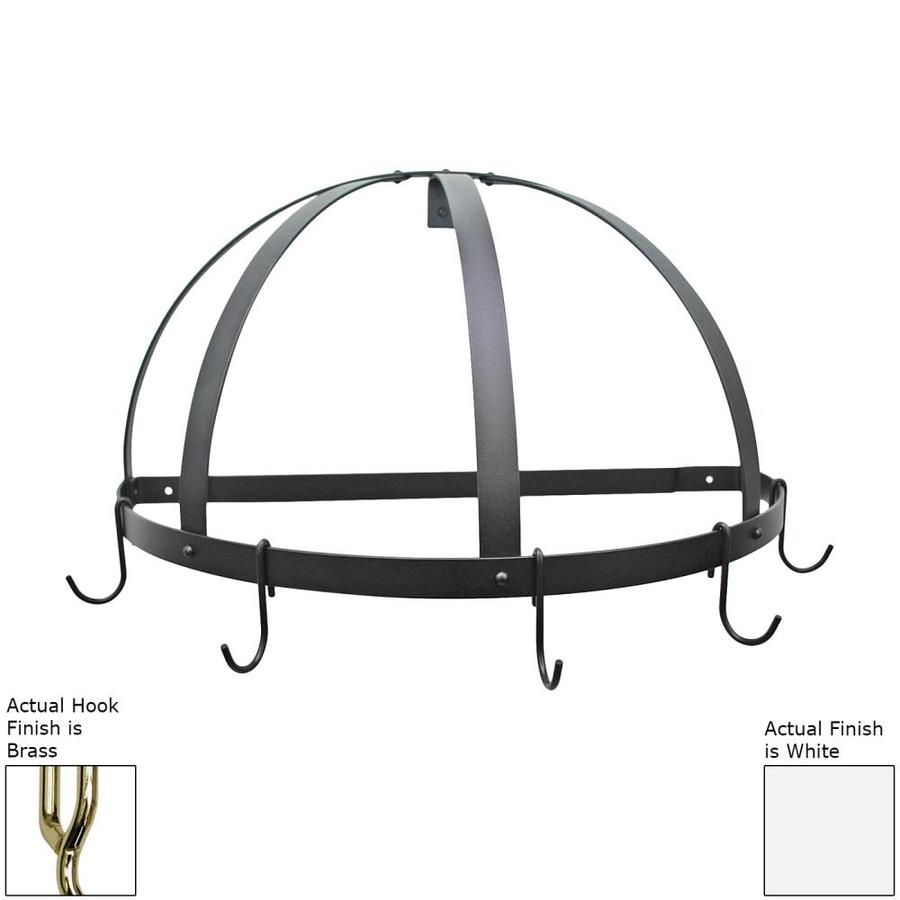 Rogar International 22.25-in x 11-in White Half-Dome Pot Rack