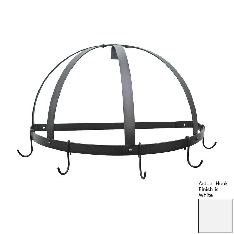 Rogar International 22.25-in x 11-in Black Half-Dome Pot Rack