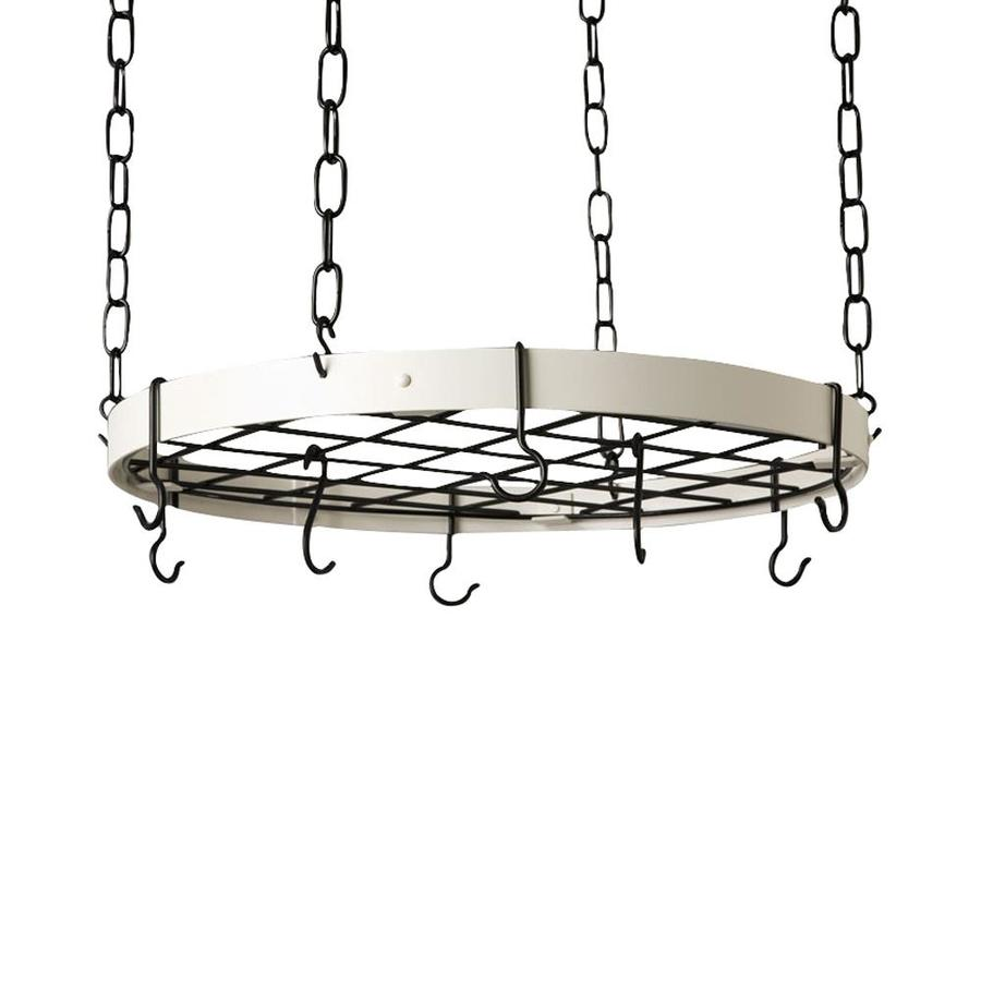 Rogar International 20-in x 20-in White Round Pot Rack