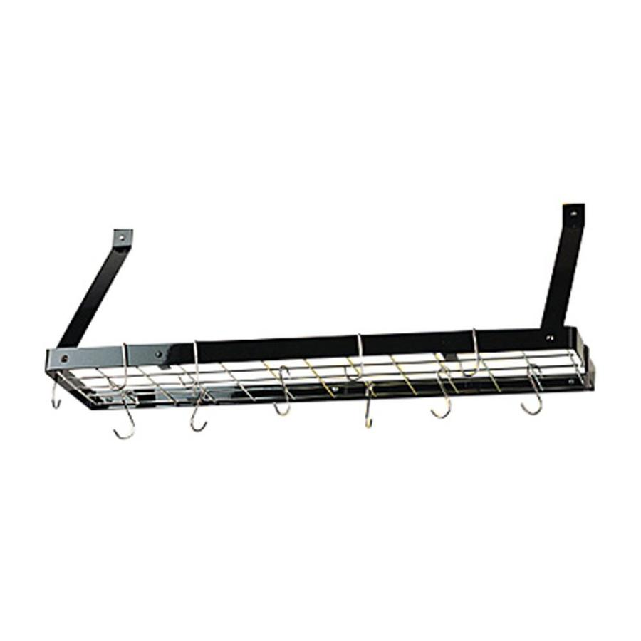 Rogar International 35-in x 8.5-in Black Shelf Pot Rack