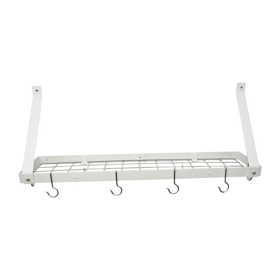 Rogar International 35-in x 8.5-in White Shelf Pot Rack