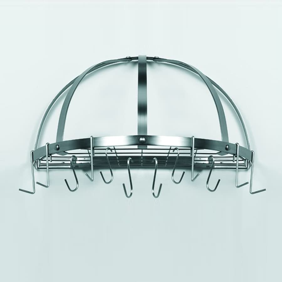 Old Dutch 22-in x Satin Nickel Half-Dome Pot Rack