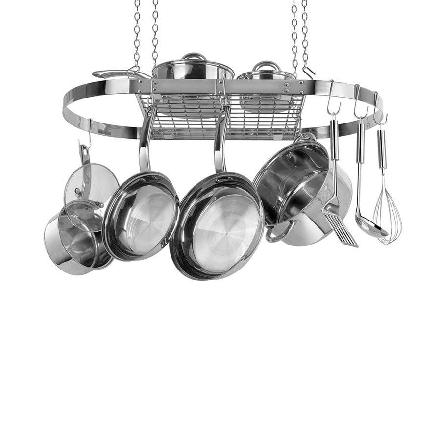 Range Kleen 33.75-in x 18-in Stainless Steel Oval Pot Rack