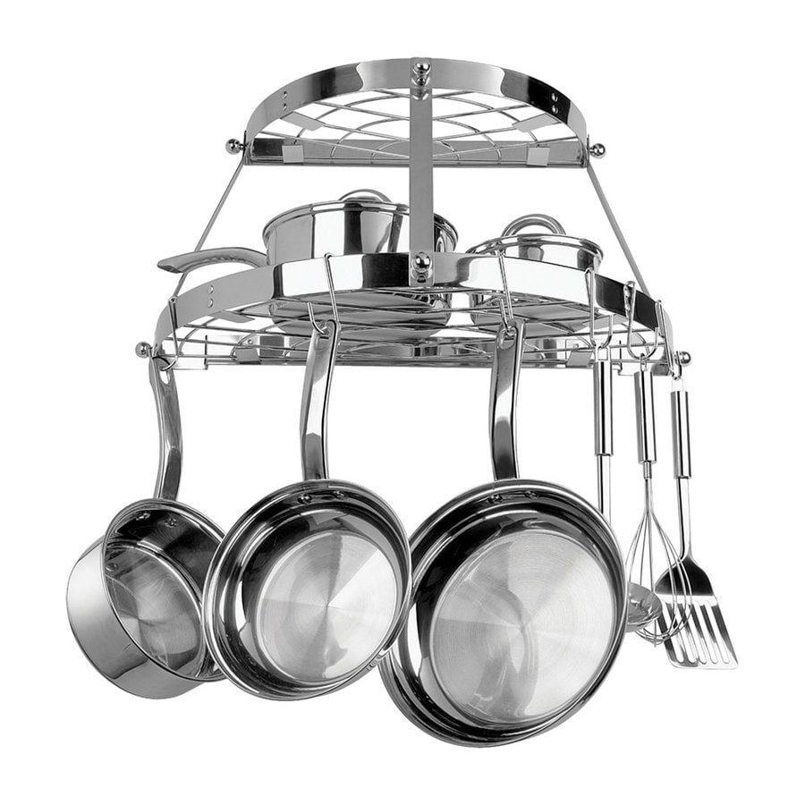 Range Kleen 24.62-in x 12.371-in Stainless Steel Half-Circle Pot Rack