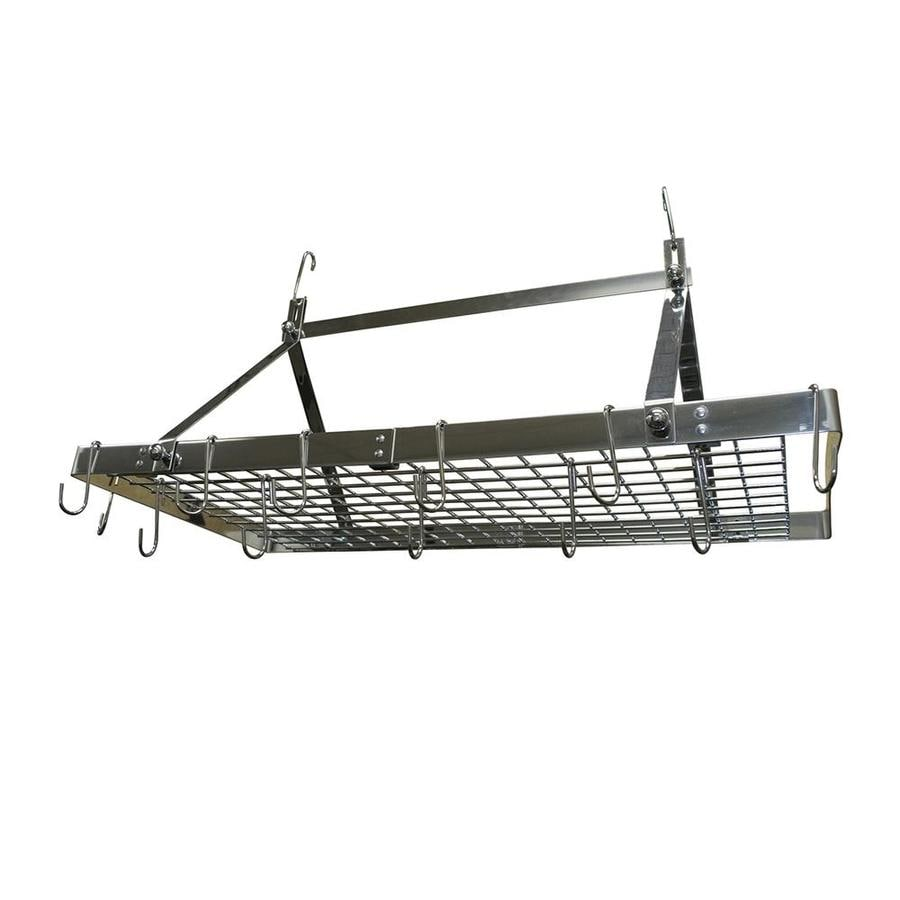 Range Kleen 34-in x 18.2-in Silver Rectangular Pot Rack