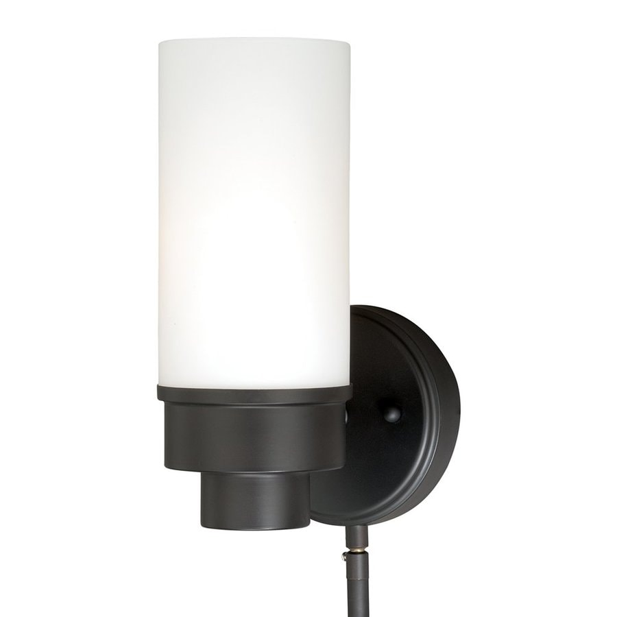 Cascadia Lighting Tube Smart 5-in W 1-Light New bronze Arm/Plug-in Wall Sconce
